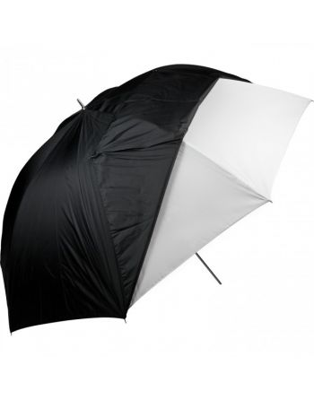 """Westcott 60""""/152cm Paraplu Optical White Satin with Removable Black Cover"""