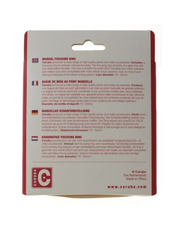 Caruba Manual Focusing Ring 74 78mm
