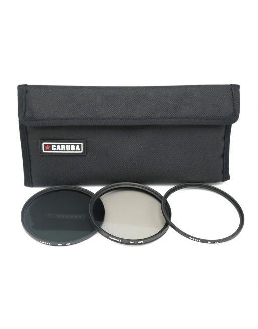 Caruba UV+CPL+ND8 Kit 62mm